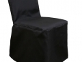 black polycotton chair cover
