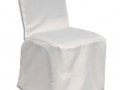 white polycotton chair cover