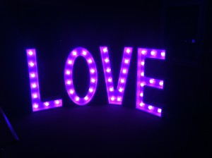 Purple Love Sign