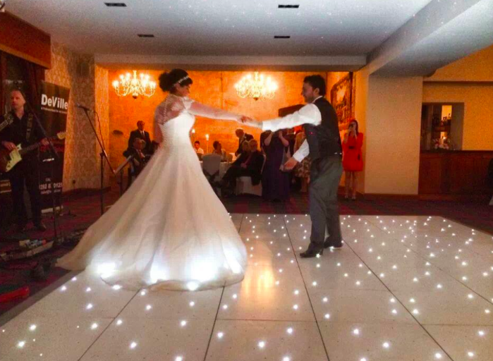 White Dance Floor LED Glenbervie House Hotel