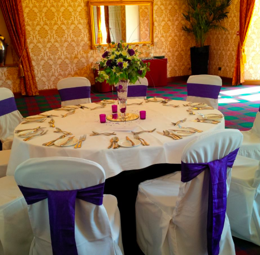 Chair Covers Purple Glenbervie House Hotel